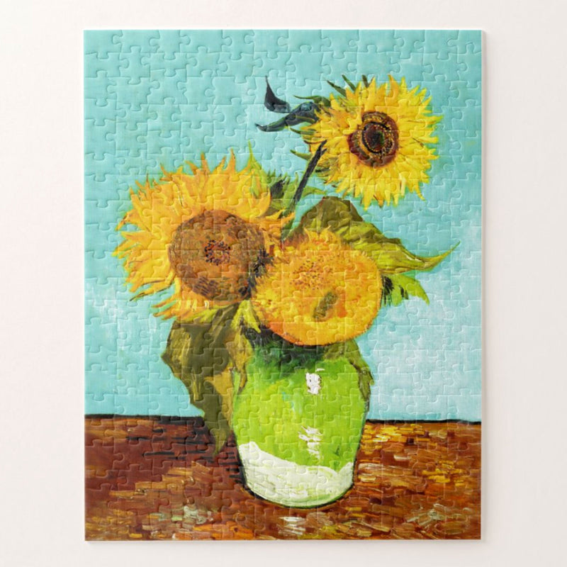 Vincent Van Gogh Three Sunflowers In A Vase Jigsaw Puzzle