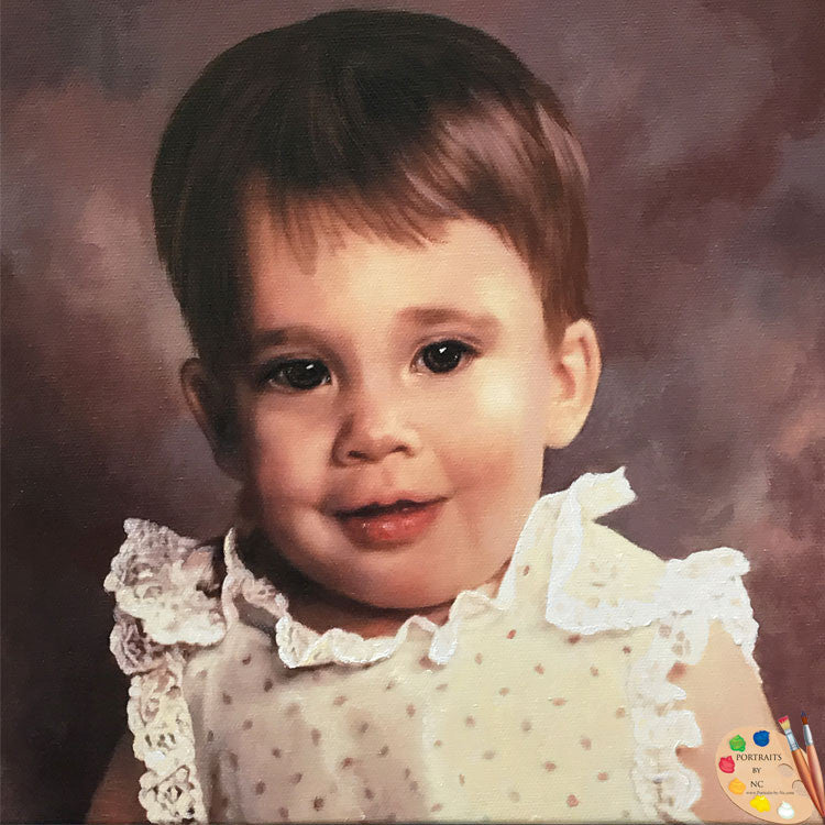Child Oil Portraits Toddler Girl 579