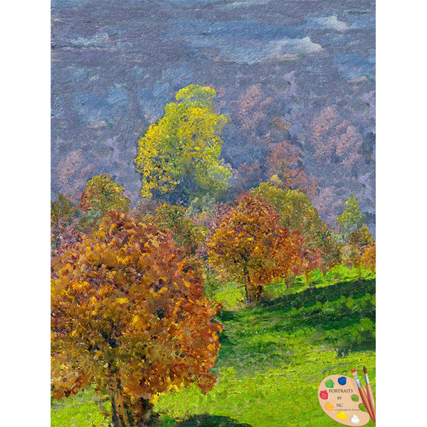 Painting of Trees Valley of Trees 308