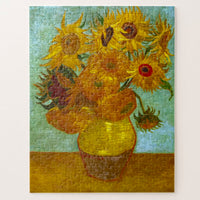 Twelve Sunflowers in a vase puzzle Van Gogh