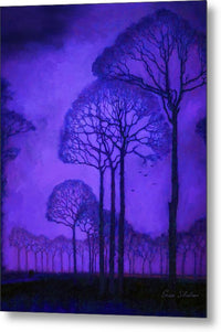 Purple Trees - Metal Print
