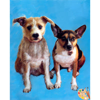 Two Mutts Dog Painting 401