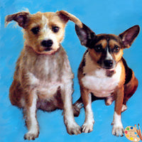 Two Mutts Dog Portrait 401
