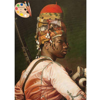 Warrior Painting Bashi Bazouk after Jean-Léon Gérôme Canvas Print