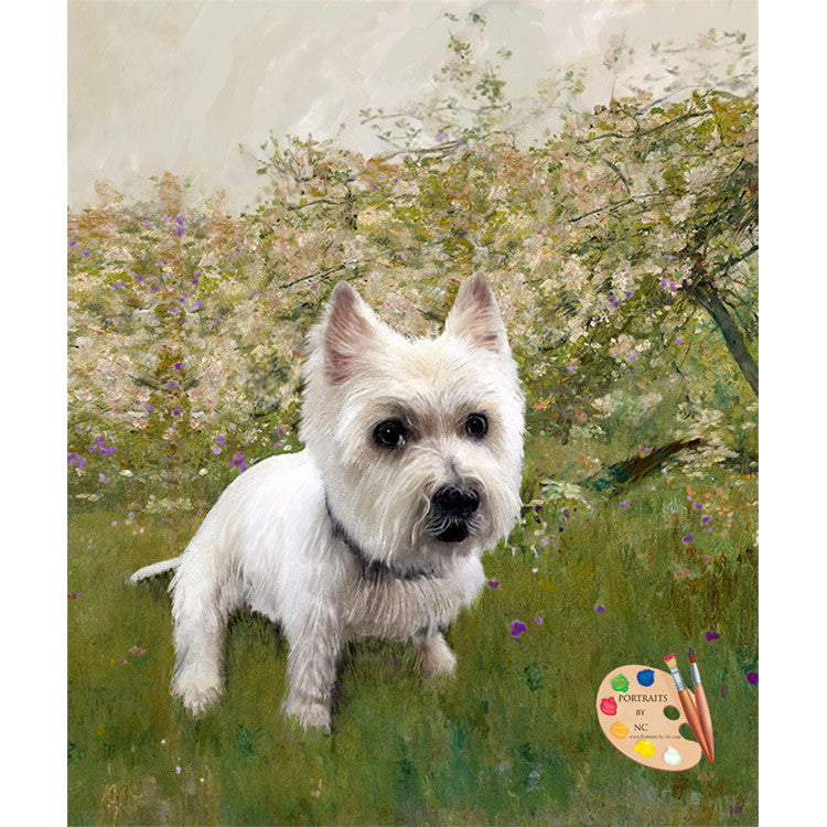 Westie Dog Painting 351