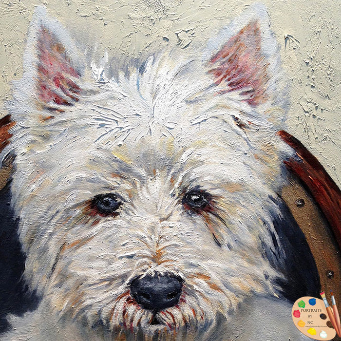 Westie Dog Portrait 185