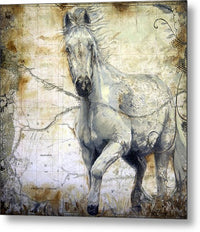 Whispers Across The Steppe Horse - Metal Print - Portraits by NC