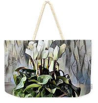 White Cyclamen - Weekender Tote Bag Neutral