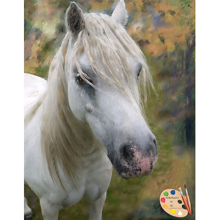 White Horse Painting 364