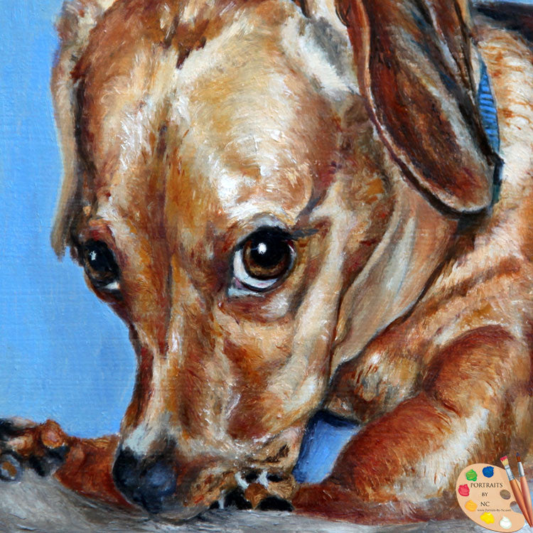 Wiener Dog Painting 161