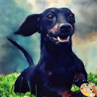 Wiener Dog Portrait 540