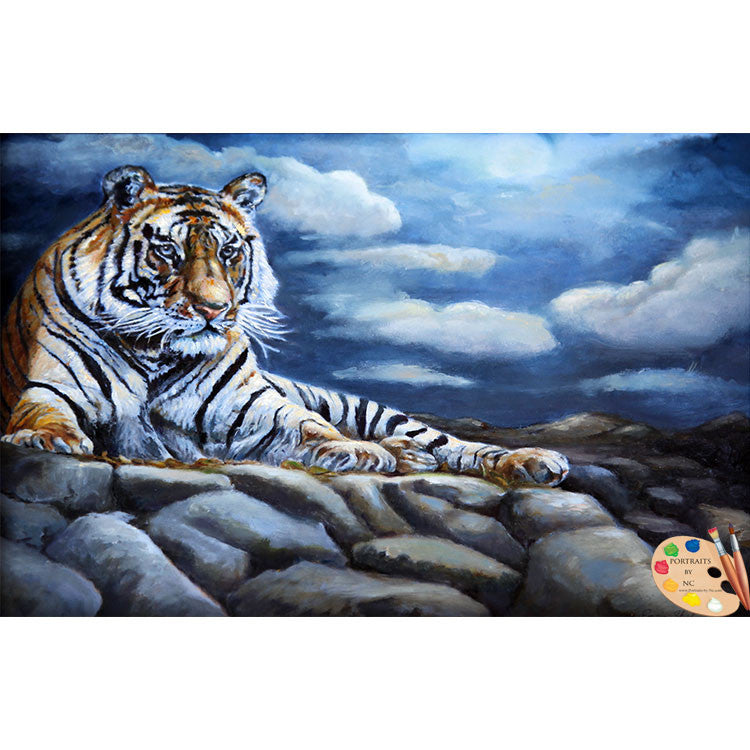 Wildlife Painting Bengal Tiger 156