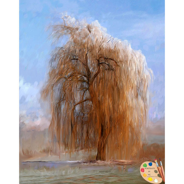 Painting of Willow Tree 299