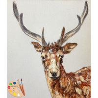 Wildlife Art - Young Buck Framed Painting