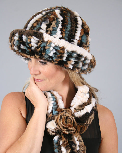 Woven Fur Hat - Marble Canyon