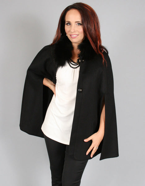 Opera Cape with Fox Collar