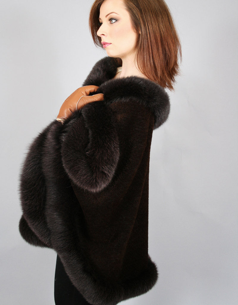 Alpaca Blend Medium Cape- Brown