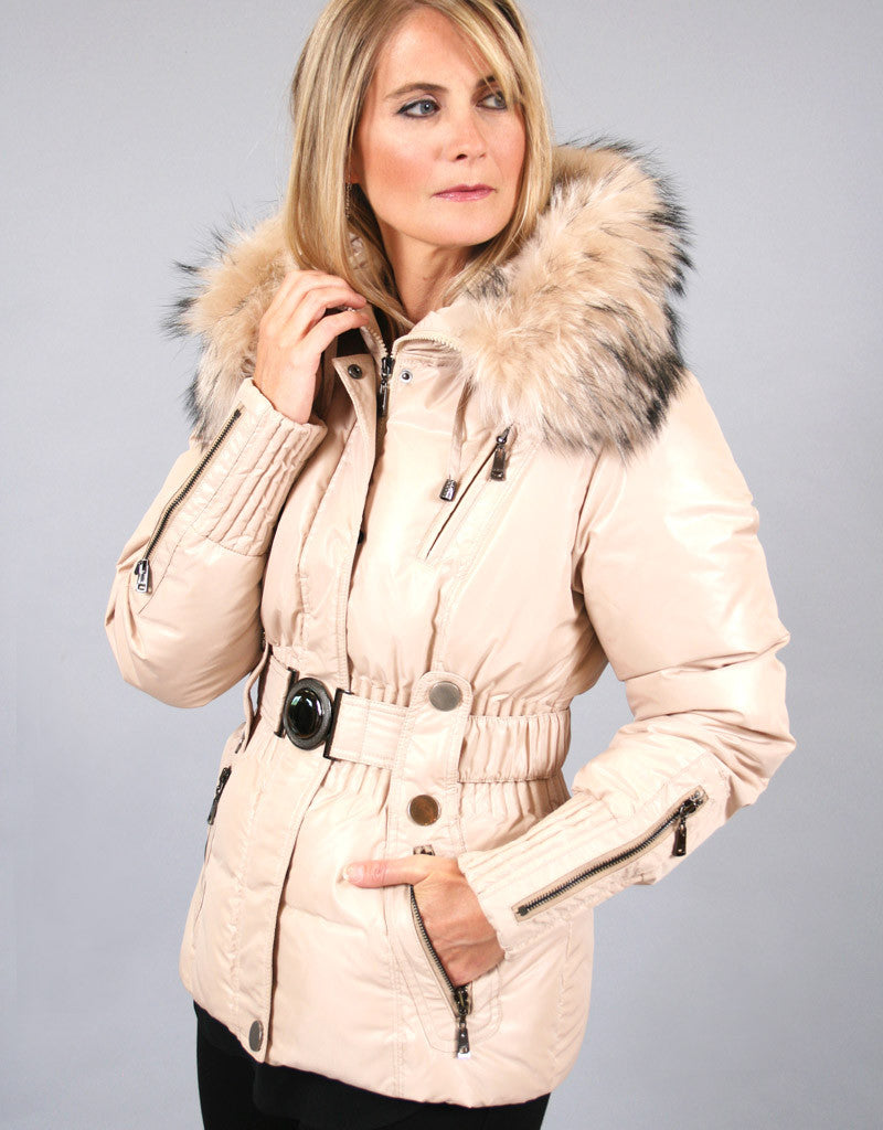 Belted Sporty Jacket-White