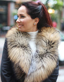Lux Fur Collar - Natural Cross Fox