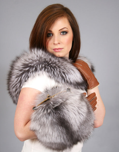 Lux Fur Collar- Platinum