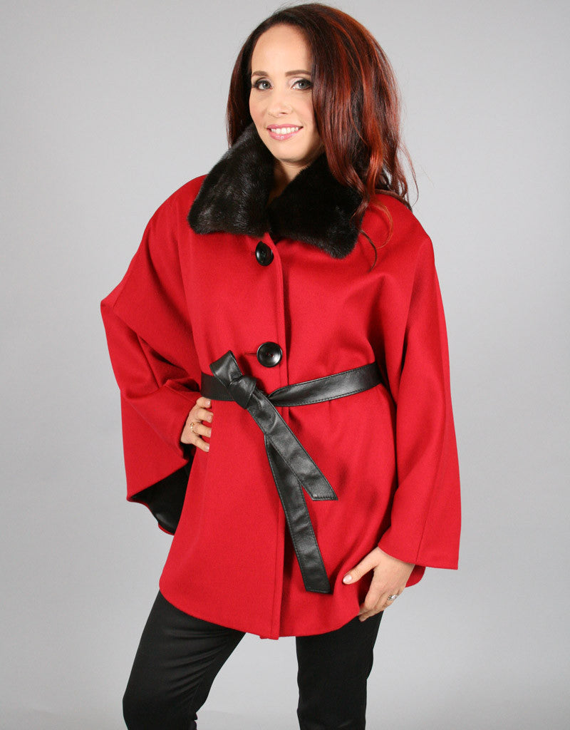 Sophisticated Mink Collar Cape-A