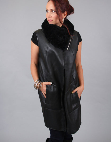 Reversible Shearling Wool Vest