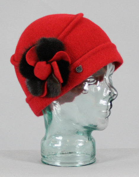 Flower  Cloche- Red