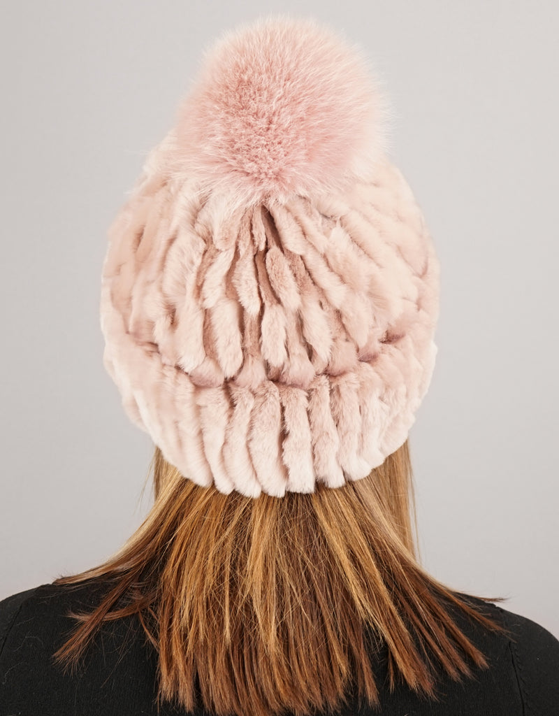Cuff Cable Hat - Dusty Pink