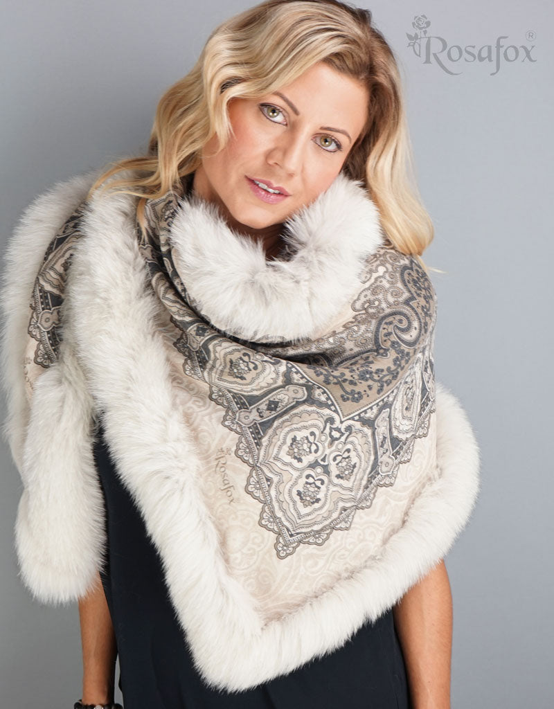 Baroque Shawl- Taupe