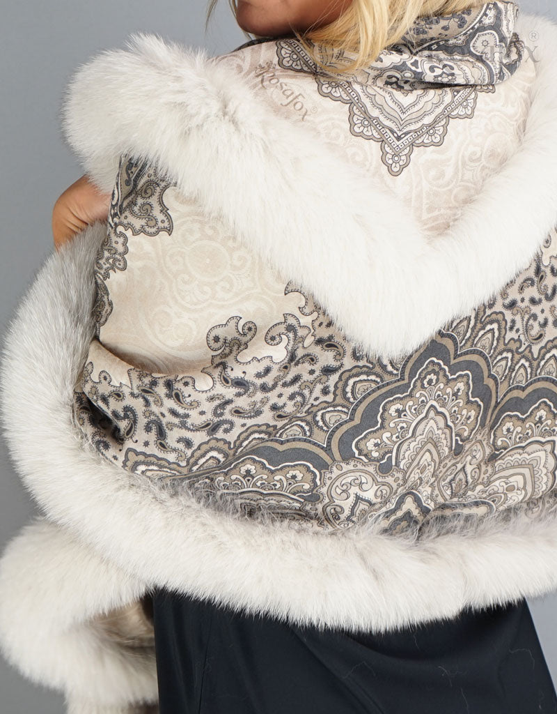 Baroque Shawl-Black Snow