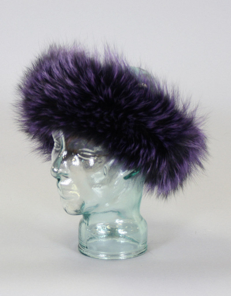 Wide Fur Headband-G