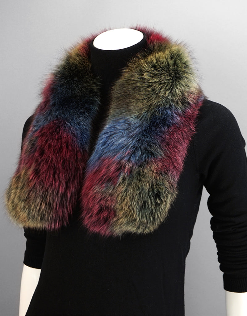 New Essential Fox Clip Collar/ Scarf- Multi