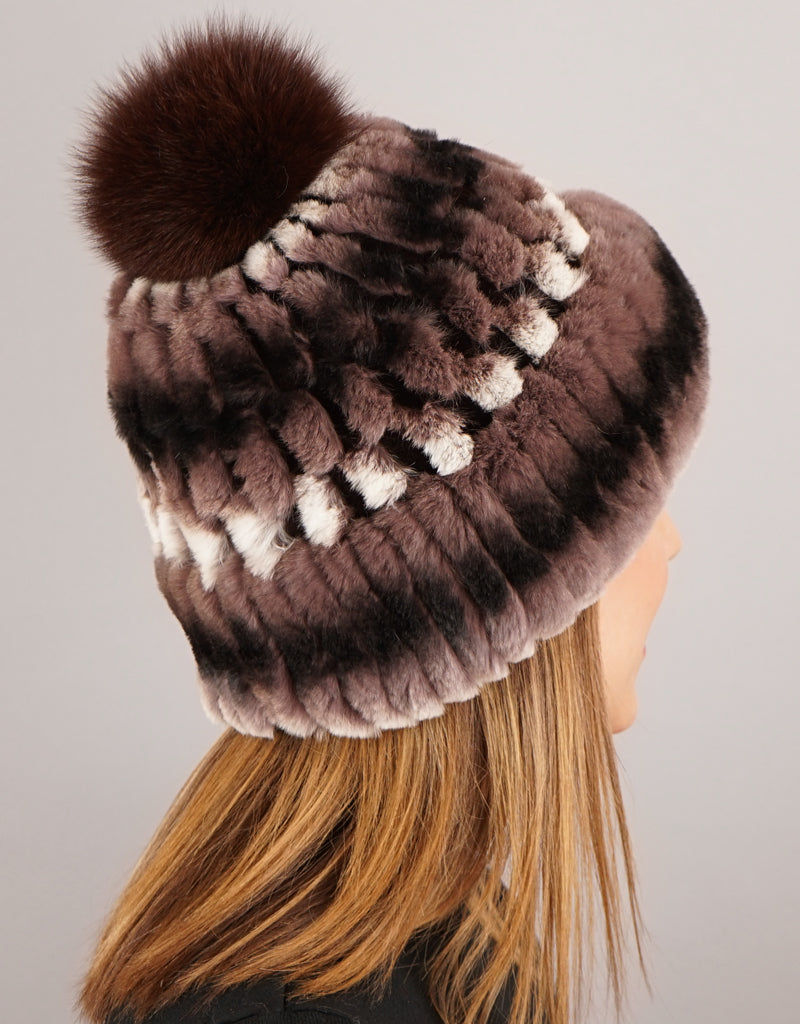 Cuff Cable Hat - Taupe