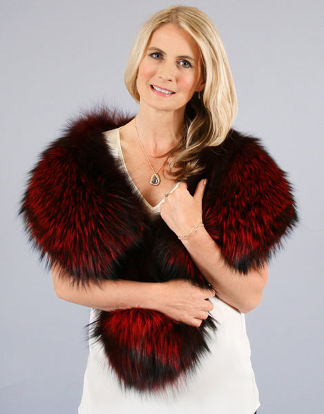Large Fox Collar- Red