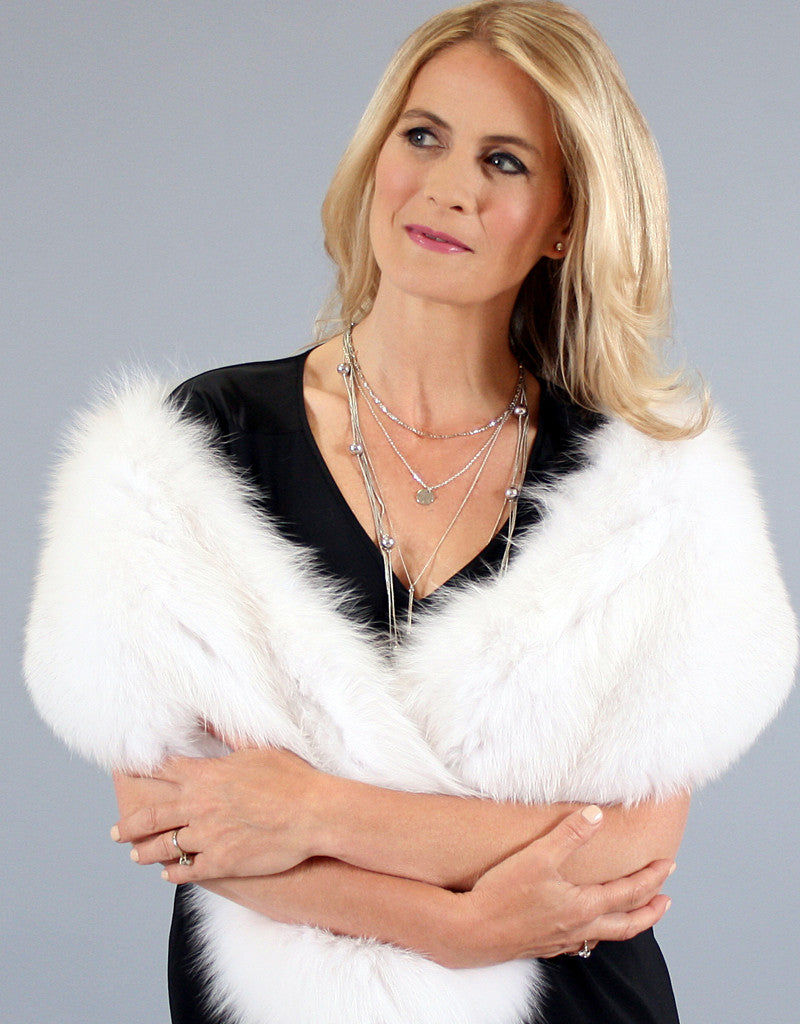 Large Fox Collar- White