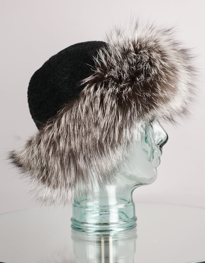 Alpaca Soft Top Hat - Black Silver