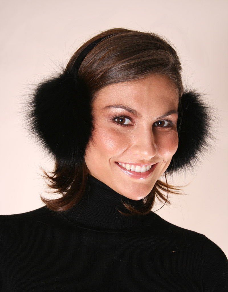 Velvet Band Fur Earmuff-D