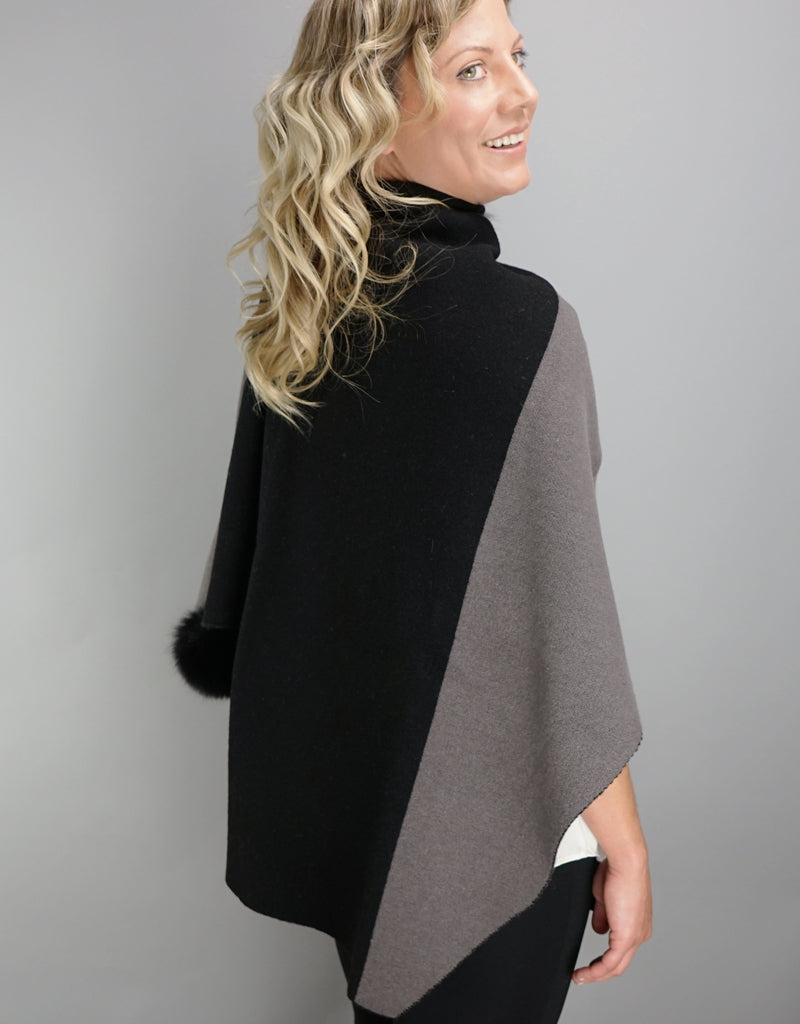 "Loop ""Pull Thru""  Two Tone Wrap - Black Grey"