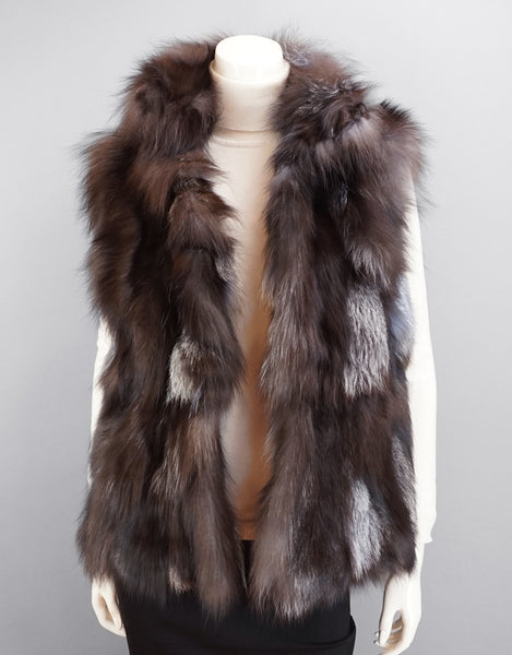 Funky Section Fox Vest-Black Silver