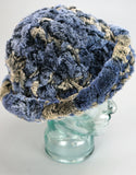Cozy Woven Fur Hat - Blue Mix