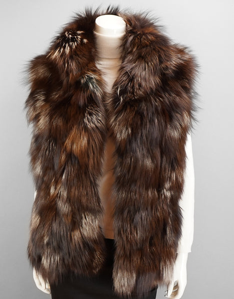 Funky Section Fox Vest-Brown Silver
