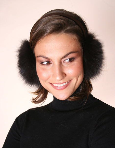 Velvet Band Fur Earmuff-C