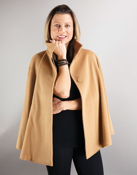 Belted Modern Cape/Jacket - Camel