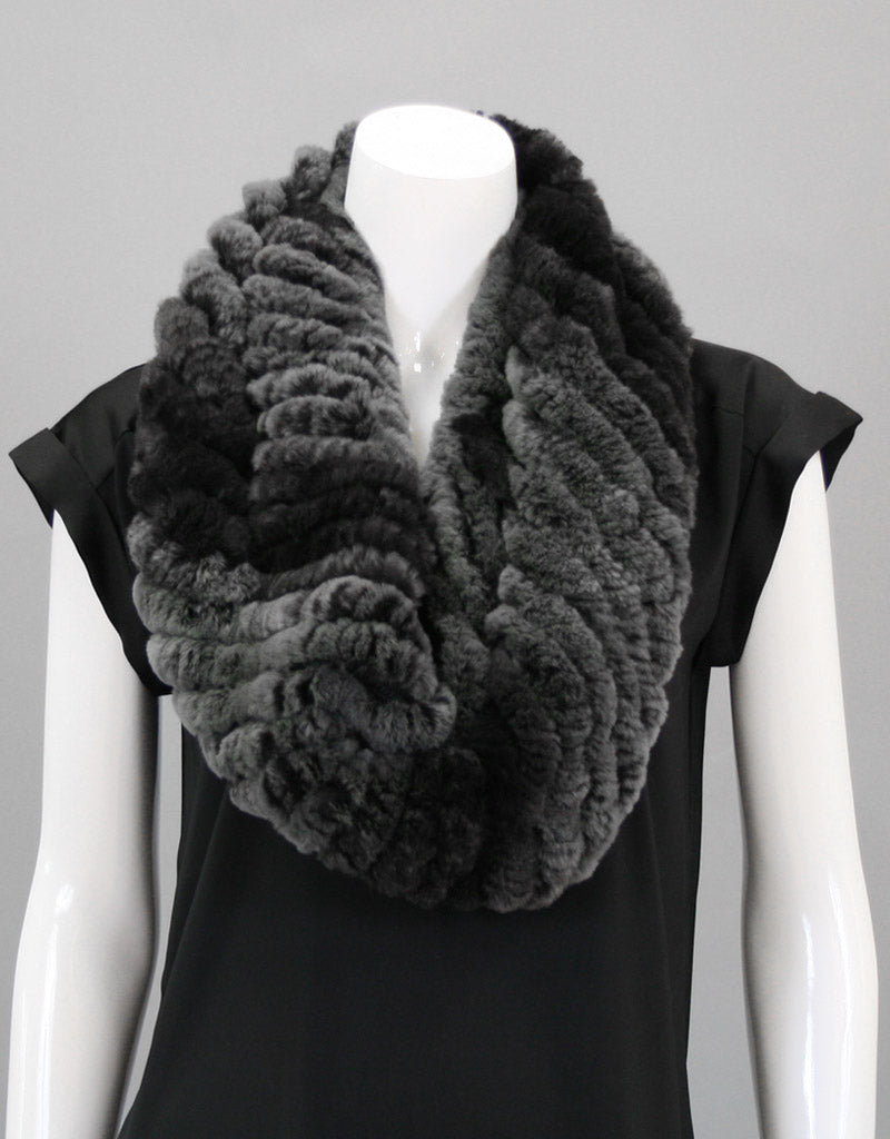 Stretch Cowl/ Shrug-Smoke