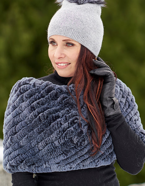 Stretch Cowl/ Shrug- Dusty Blue Mix