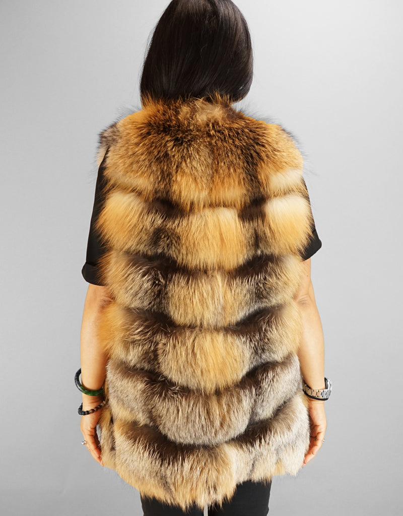 Modern Horizontal Fox Vest- Cross