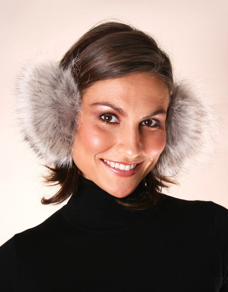 Velvet Band Fur Earmuff-B