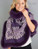 Baroque Shawl- Dark Plum