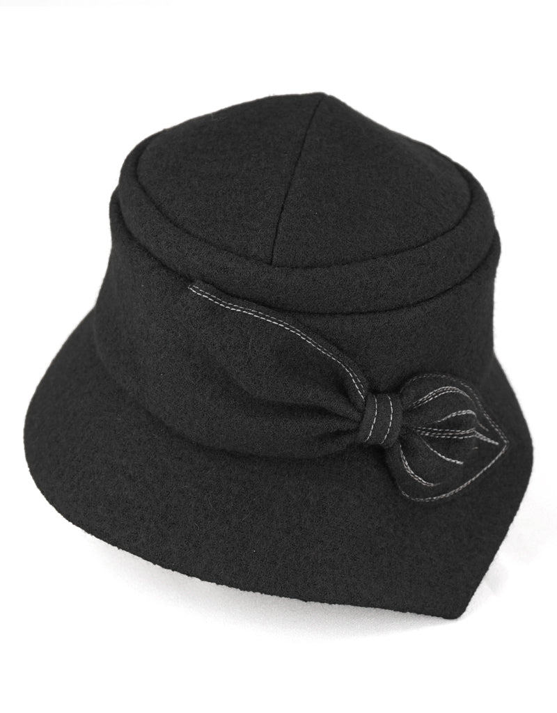 Grace - Lillie Cohoe / Boiled Wool Brim Hat - Black