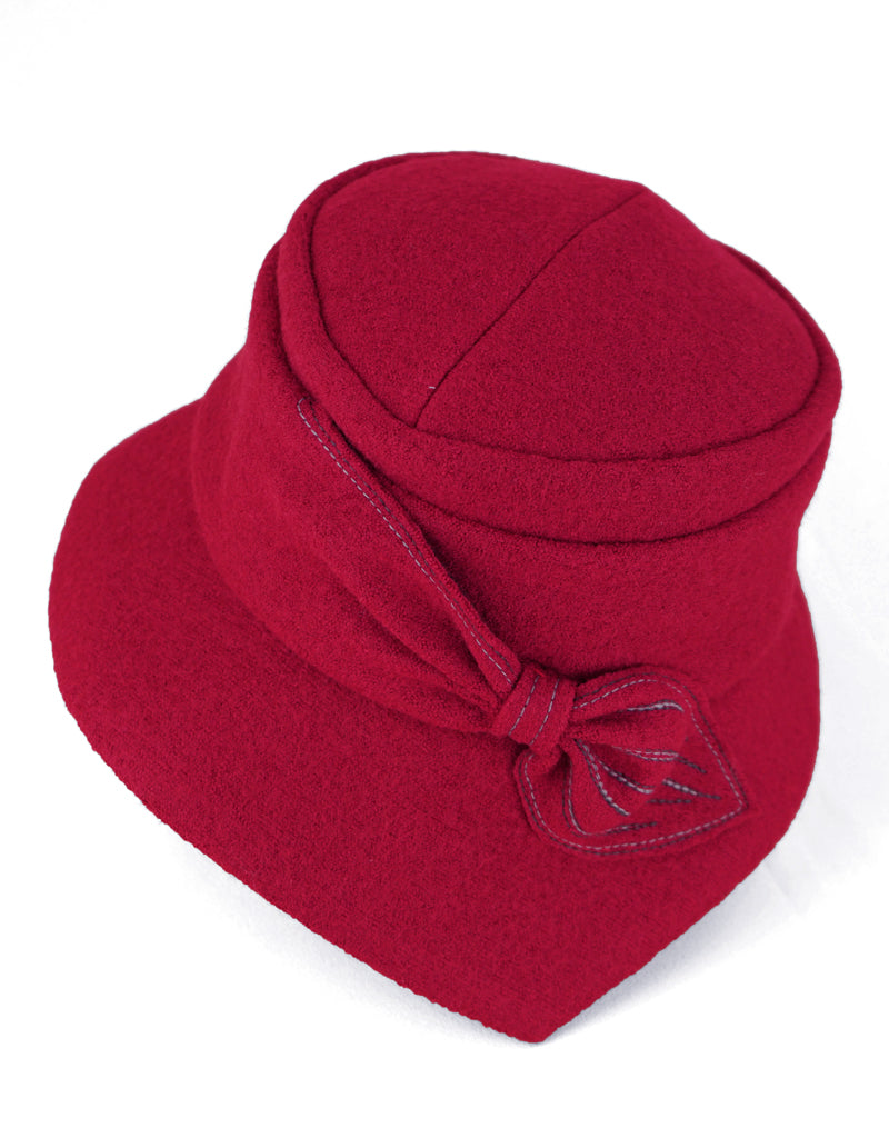 Grace - Lillie Cohoe / Boiled Wool Brim Hat - Ruby